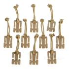 EDCGEAR Military MOLLE Webbing Dominator Hang Buckle Clip w/ Elastic Cord - Sand Color (10pcs)