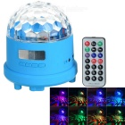 LT-06 Mini RGB Colorful Light LED Stage Lamp & Party Diso Speaker w/ 3.5mm / TF Slot - Blue + White