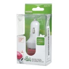 Universal 2*USB Car Charger w/ Anion Air Purifier - White + Deep Pink