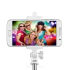 Selfie Monopod + Tripod + 3050mAh Power Bank w/ LED Lamp - Black+White