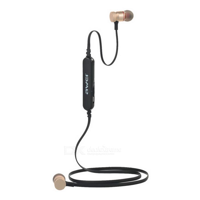 AWEI A920 BL Sports Stereo Bluetooth V4.0 In-Ear Earphone - Golden