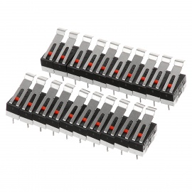 5mm 3-Pin Mouse Tact Micro Switches - White + Black (20 PCS)