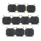 4 x 4 x 0.8mm Waterproof Slightly Touch Button Tact Switches - Black (100 PCS)