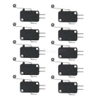 Slightly Touch Button Tact Switches w/ Wheel - Black (10 PCS)