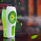 USB Mini Mist Spray Humidifier & Air Conditioning Cooling Fan - Green