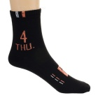 Masculina Character Socks Impresso - Black ( 7 Pairs )