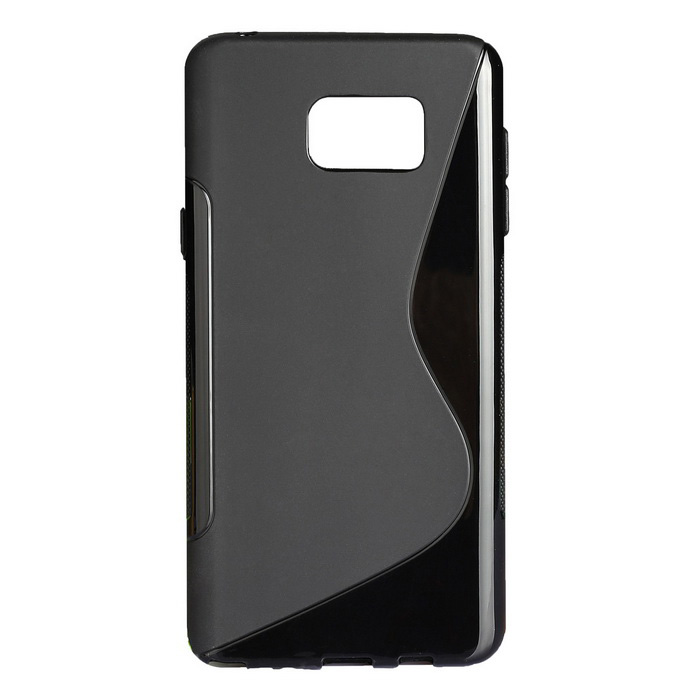 """S"" Style Protective TPU Back Case for Samsung Galaxy Note 5 - Black"