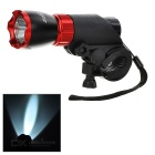 SOLDIER Handlebar Mounted White 3-Mode LED Bike Light - Red