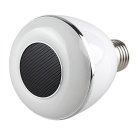 Dimmable BT Smart E27 LED Bulb w/ Music Speaker - White + Silver
