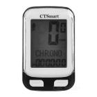 "CTSmart 22-Functional 1.7"" Screen Bicycle Bike Computer w/ Stop Watch - Black + White (1 x CR2032)"