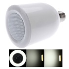 Altavoz de audio Bluetooth inalámbrico con LED E27 Dimmable LED - Blanco