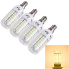 YouOKLight E14 18W 69-SMD 5730 1800lm 3000K Warm White Light LED Mais-Birnen (AC 110 ~ 120V / 4 PCS)