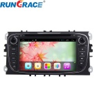 "Rungrace 7"" 2-Din Android Car DVD Player w/ BT, GPS, IPOD, Wi-Fi, DVB-T, CAN BUS for Ford Mondeo"