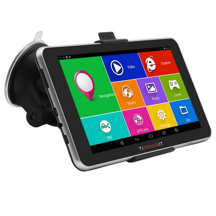 "TiaiwaiT A50 7"" Android Car GPS Navigator w/ 8GB / US+CA Map - Black"
