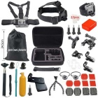 36-In-1 Popular Outdoor Sports Camera Accessories Kit for GoPro Hero1 / 2 / 3 / 3+ / 4 - Black