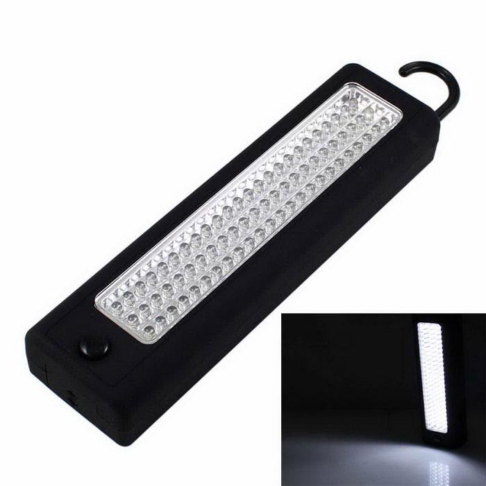 Multifunction 72-LED Magnetic Camping Lamp Work Light w/ Hook - Black