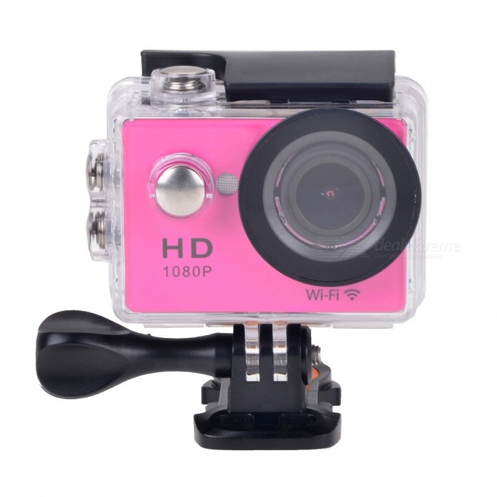 1080P WiFi Waterproof 12MP Sports Camera w/ 2 LCD, HDMI - Deep PinkSport Cameras<br>Form  ColorDeep Pink + BlackModelW9sShade Of ColorPinkMaterialABSQuantity1 pieceImage SensorCMOSImage Sensor Size2/3 inchesAnti-ShakeYesFocal DistanceNo cmFocusing Range12cm~InfiniteOptical ZoomNoDigital ZoomOthersBuilt-in SpeedliteNoSpeedlite RangeNoApertureNoAperture RangeNoWide Angle140°A +HDwide-anglelensEffective Pixels12.0 MPImagesJPEGStill Image Resolution4608 x 2592 (12M) / 3760 x 2120 (8M) / 2976 x 1672 (5M) / 1920 x 1080 (2M)VideoMOVVideo Resolution1920 x 1080 30fps @MOV(H.264); 1080 x 720 30fps @MOV(H.264)Video Frame Rate30,60Audio SystemStereoCycle RecordYesISONoExposure Compensation-2;-1.7;-1.3;-1;-0.7;-0.3;0;+0.3;+0.7;+1;+1.3;+1.7;+2.0Scene ModeAutoWhite Balance ModeAutoSupports Card TypeTFSupports Max. Capacity32 GBBuilt-in Memory / RAMNoOutput InterfaceMicro USB,Micro HDMILCD ScreenYesScreen TypeOthers,LCDScreen Size2 inchesBattery Measured Capacity 900 mAhNominal Capacity900 mAhBattery TypeLi-ion batteryBattery included or notYesBattery Quantity1 pieceVoltage3.7 VBattery Charging Timeabout 3 hoursLow Battery AlertsYesWater ResistantWater Resistant 3 ATM or 30 m. Suitable for everyday use. Splash/rain resistant. Not suitable for showering, bathing, swimming, snorkelling, water related work and fishing.Supported LanguagesEnglish,Traditional Chinese,Russian,Portuguese,Spanish,Italian,Korean,French,German,Others,JapaneseCertificationCEPacking List1 x Wi-Fi Sports camera1 x Li-ion Battery (3.7V, 900mAh)1 x Waterproof housing1 x Helmet base1 x Handle bar/ pole mount1 x Mount A1 x Mount B1 x Mount C1 x Mount D1 x USB Cable (60cm)3 x Cable ties1 x Wire1 x English user manual<br>
