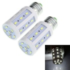 E27 5W 600lm White Light 24-SMD 5630 LED Corn Bulb 6500K (220~240V / 2 PCS)