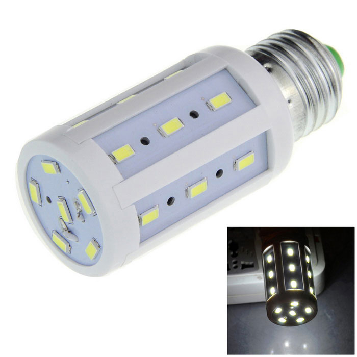 E27 5W LED Corn Bulb White 600lm 24-SMD 5630