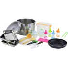 BRS BRS-350 Outdoor Camping Picnic Pot & Pant & Seal Boxes & Kitchen Knife & Scissor Cooking Set