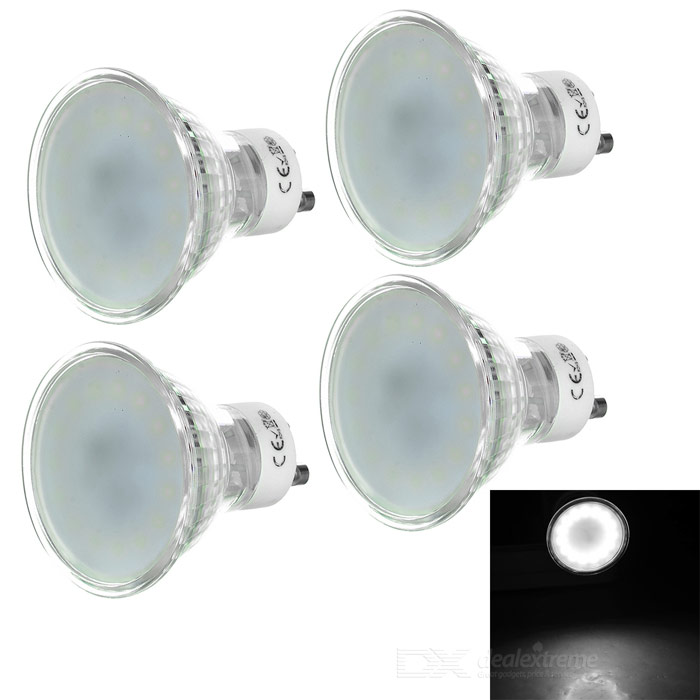 GU10 3W 210lm LED Cup Lights Cold White 15-SMD 2835 (4PCS)