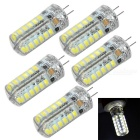G4 3W LED Light Bulbs Cool White 7000K 200lm 48-SMD 2835 - White + Beige (AC 220V / 5 PCS)
