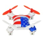 WLtoys V676 Mini 2.4GHz 4-CH R/C UFO Helicopter Aircraft w/ 6-Axis Gyro / Lamp - Blue + Red