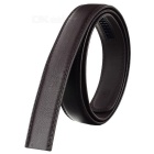 Men's PU Waistband Belt w/o Buckle for 3.5cm Automatic Ratchet Buckle - Brown