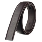 Men's PU Waistband Belt w/o Buckle for 4.0cm Automatic Ratchet Buckle - Brown