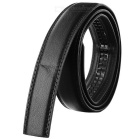 Men's PU Waistband Belt w/o Buckle for 3.5cm Automatic Ratchet Buckle - Black