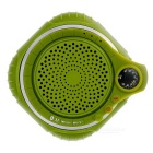 Outdoor Sports Water-Resistant Bluetooth Handsfree Speaker w/ TF Slot / Mic. - Dark Green