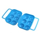 Camping Picnic Anti-Crushing 6 Eggs Carrier Holder Storage Case - Blue