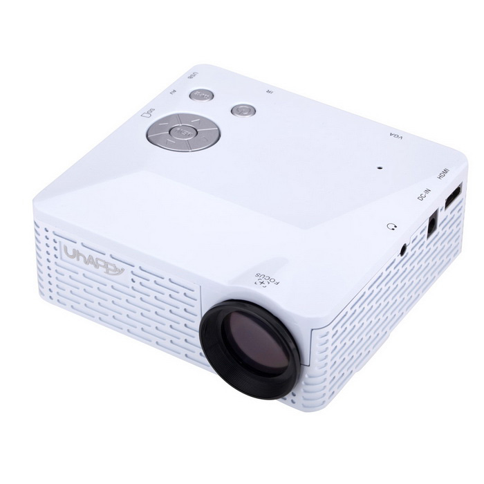 Uhappy U18 HD home theater proyector LED con sd, HDMI, VGA - blanco