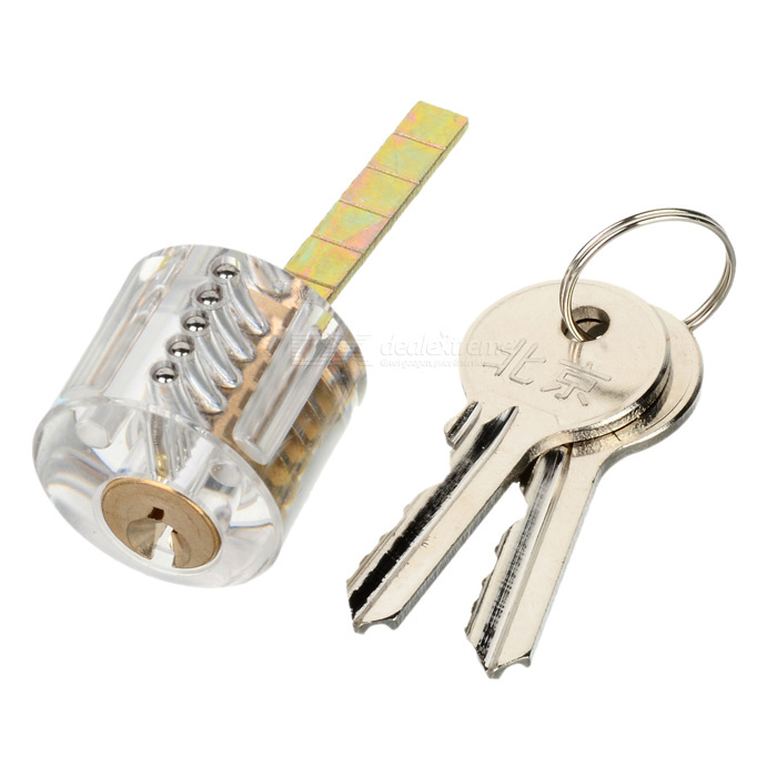Transparent Skill Practice Slotted Lock Set