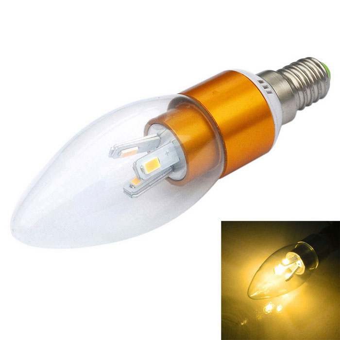 Jiawen dimbare E14 3W LED-lamp warm wit licht 300lm 6-SMD - golden