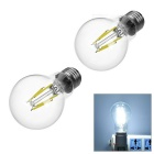 JRLED E27 4W LED Filament Bulbs White Light 6450K 320lm (AC 220V / 2 PCS)