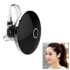 Round Shaped Wireless Bluetooth V4.1 Earbud Headset w/ Mic for IPHONE + More - Black