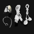 Round Shaped Bluetooth Earbud Headset w/ Mic for IPHONE - Light Golden