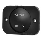 Green LED Light Display Voltmeter for Car, Motorcycle - Black (12~24V)