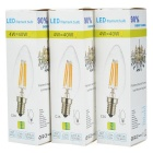 JRLED E14 4W levou a luz branca fria do bulbo do filamento 320lm (ac 220V / 3PCS)