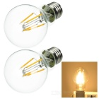 JRLED E27 4W LED Filament Bulbs Warm White Light 3000K 320lm (AC 220V / 2 PCS)