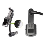 Bluetooth Adjustable Phone Car Holder w/ Handsfree, FM, MP3 - Black