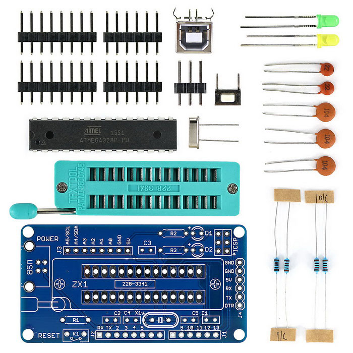 UNO R3 ATmega328P Development Board DIY Soldering Parts for ...