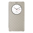 Qi Wireless Charger Receiver PU Case w/ NFC for LG G4 - Champagne Gold