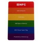 beschrijfbare programmeerbare NXP NTAG216 888 bytes NFC-tags - multicolor