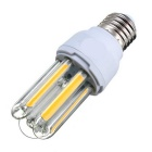E27 5W U-Shape COB LED Bulb Lamp Warm White Light 3500K 600lm - White + Orange (AC 85~265V)