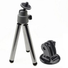 3-in-1 Mini Tripod for Digital Camera / Phone / GoPro Hero 1 / 2 / 3 / 3+/4 - Silver