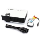 UC40 55W mini home LED projector w / hdmi, sd, afstandsbediening - wit