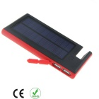 6000mAh Solar Power Bank for Samsung, IPHONE + More - Black + Red