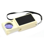 Jtron 45x25mm Pull-type Magnifier / LED Currency Detecting /Jewelry Identifying Type - Beige + Black